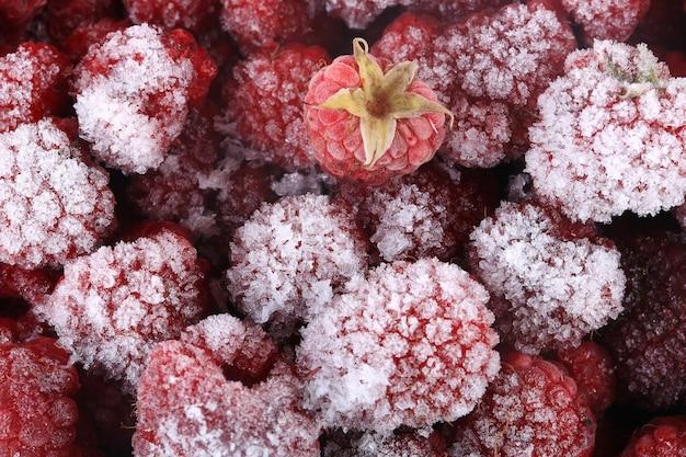 Замороженная малина, витаминное питание