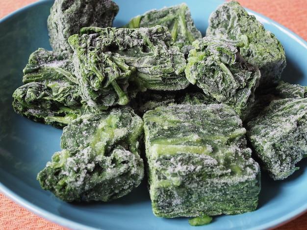냉동 시금치 야채 음식