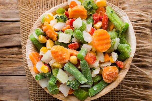 Замороженные овощи.