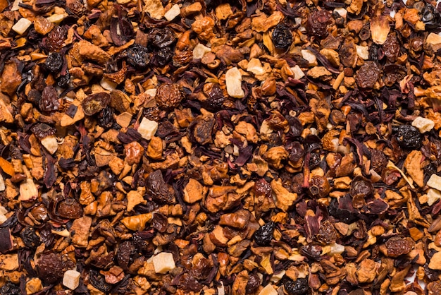 Fruin чай крупным планом, текстурированный фон