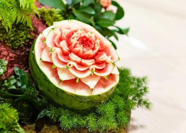 과일 및 야채 조각, 태국 과일 조각 장식 표시