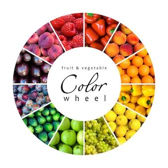 果物と野菜のカラーホイール(12色)