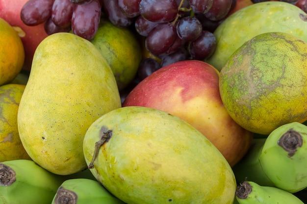 Fruit in basket. tropical fruit