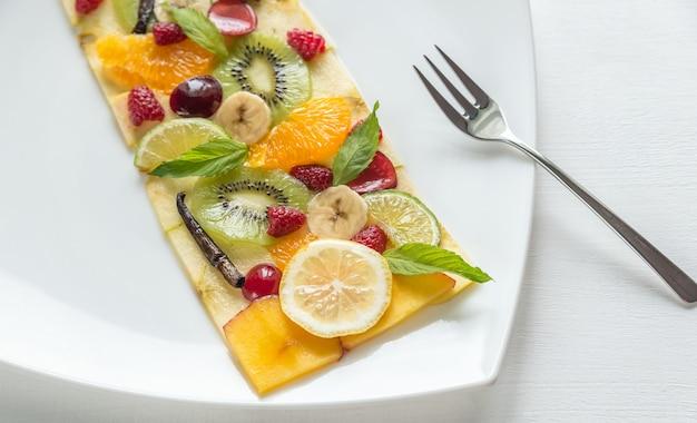 Fruit and berry carpaccio