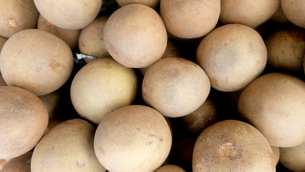 The fruit chiku or sapota has an exceptionally sweet and delicious flavour