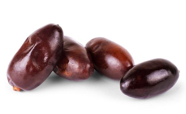 흰색 바탕에 과일 날짜