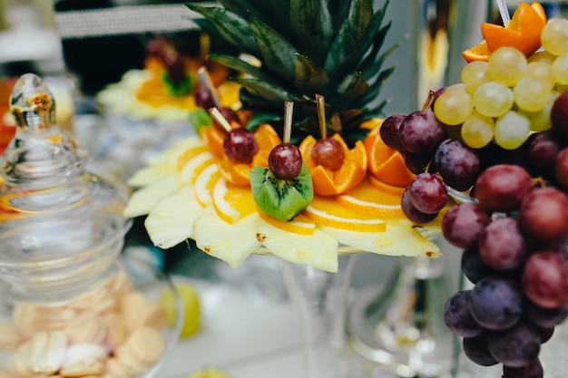 Fruit food decorated with art