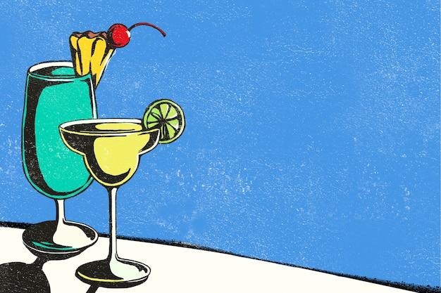 Фруктовый сок фон рисованной иллюстрации