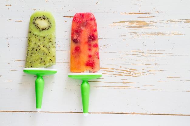 Fruit juice ice pops