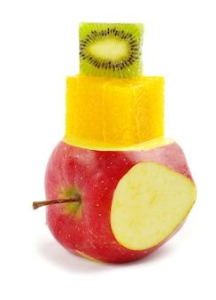 Fruit mix on white