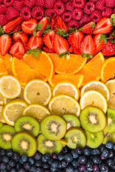 Цветовая палитра фруктовый натюрморт