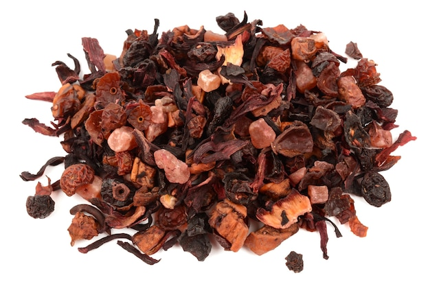 Фруктовый чай, изолированные на белом фоне