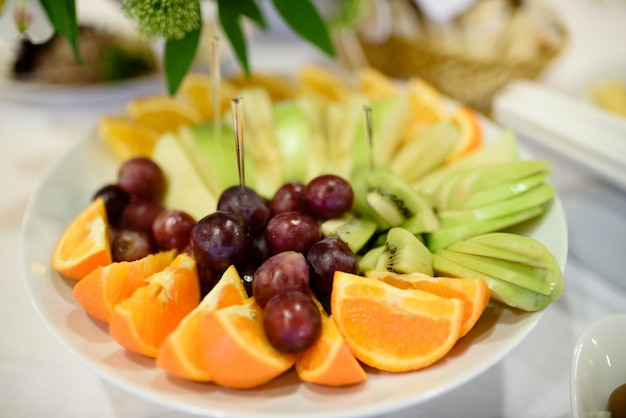 Fruit tray on table