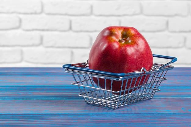 Fruit with mini shopping cart