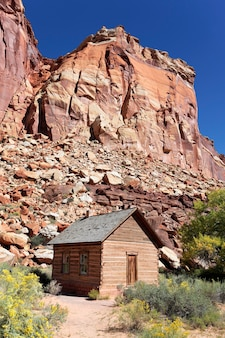 The fruita school is a one-room building constructed by residents in 1896
