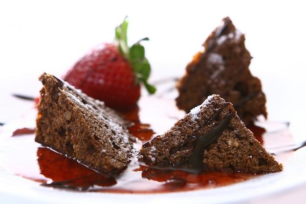 Fruitcake with strawberry