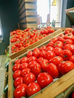 ファーマーズマーケットの果物と野菜