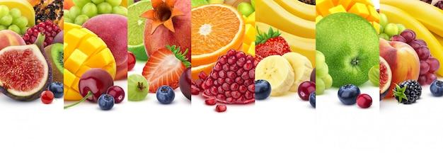 コピースペースを白で隔離される果物のテクスチャ