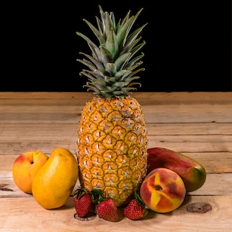Fruits on a wooden table