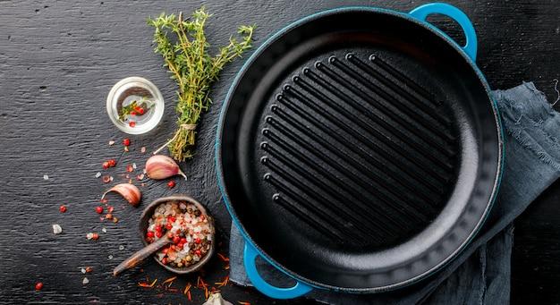 Сковорода чугунная для гриля пустой сковороды