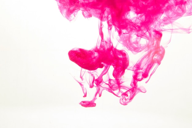 Fuchsia paint in water
