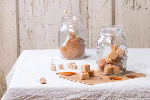 Fudge in jar