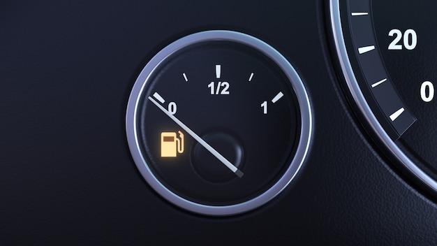 Fuel tank sensor at zero