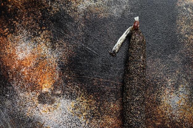 Fuet, salami. traditional spanish sausage