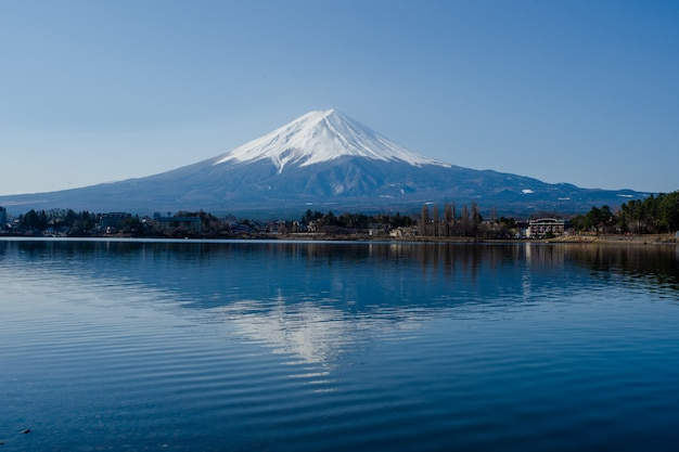 Fuji mount and reflect river
