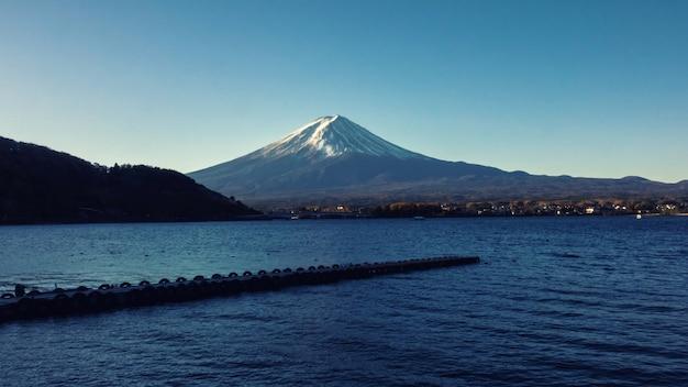 Fuji mountain in winter season