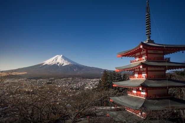 チュレイトパゴダのある富士山