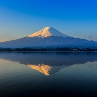 Fuji mountain with morning light