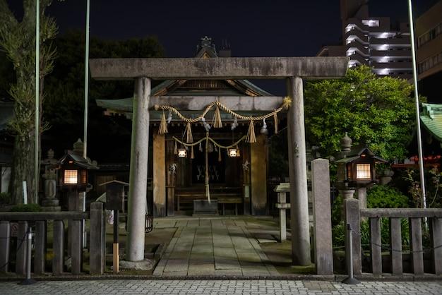 Fuji sengen shrine at night, nagoya