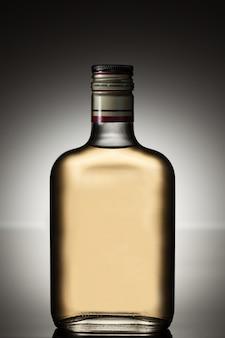 Full alcohol bottle