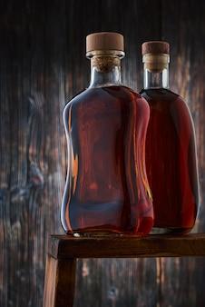 Full bottles of whiskey