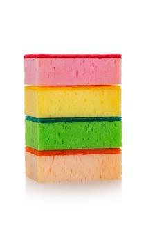 Full colour wash dish sponge on white isolated