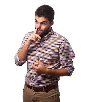 Full doubt confident model man