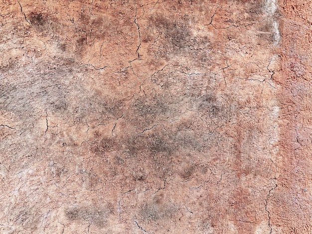 Full frame background of brown cracked dirt wall