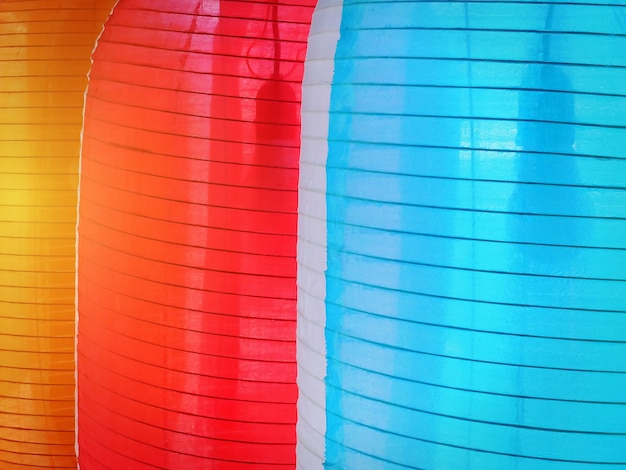 Full frame background of close-up colorful lanterns
