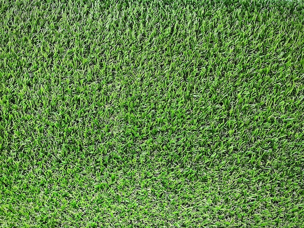 Full frame background of green artificial grass lawn