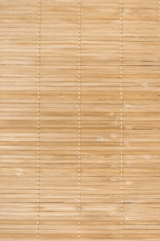 Full frame background of natural unpainted bamboo wood board