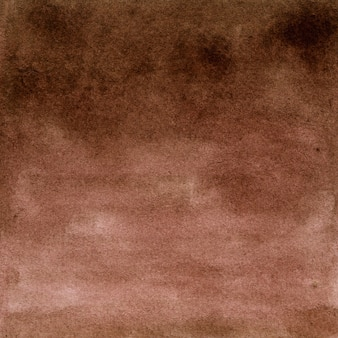 Полный кадр фон холста, окрашенный коричневой акварелью с неровной пятнистой текстурой. рисованной иллюстрации