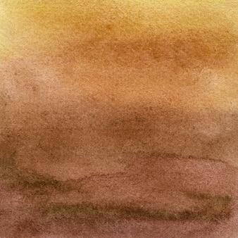 Полный кадр фон холста, нарисованный коричневой акварелью с неровной пятнистой текстурой