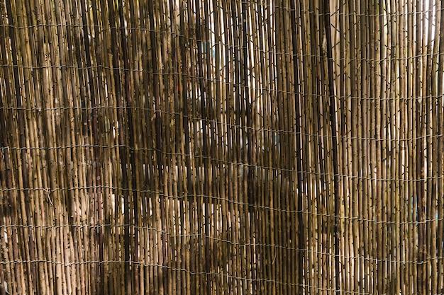 Full frame of bamboo fence