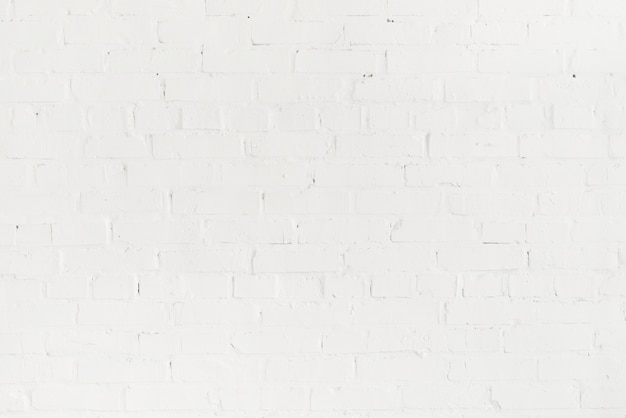 Full frame of blank empty brick white wall
