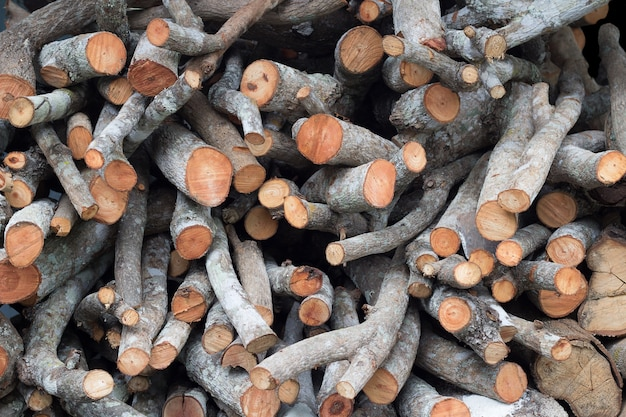 Full frame of  firewood textured background