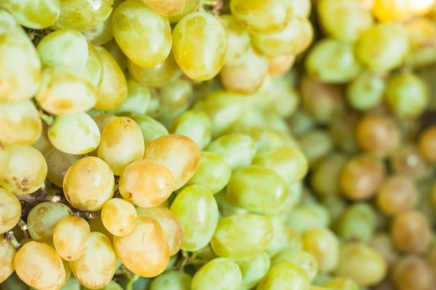 Full frame of green grapes