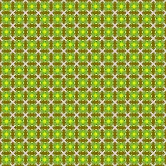 Полный кадр иллюстрированный зеленый желтый цветочный узор фона
