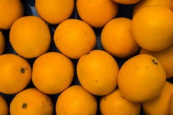 Full frame of an fresh organic oranges
