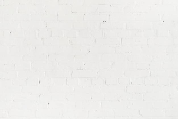 빈 빈 벽돌 흰 벽의 풀 프레임